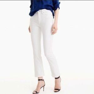 J Crew white crop jeans NWOT